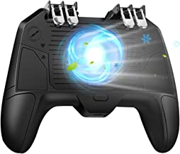 """Best [The Latest Version] Mobile Game Controller 4 Trigger with 4000mAh Power Bank Cooling Fan for PUBG/Call of Duty/Fotnite [6 Finger Operation] L1R1 L2R2 Gamepad Trigger for 4.7-6.5"""" iOS Android Phone Review"""