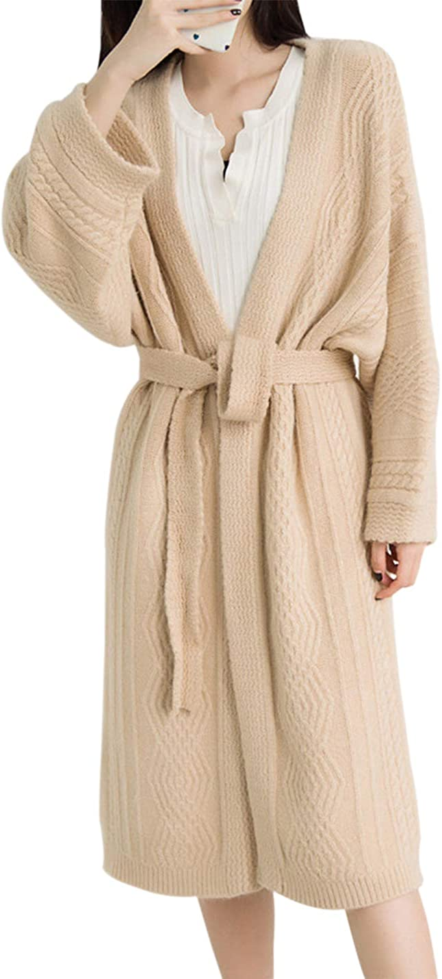 Yimoon Women's Slouchy Open Milwaukee Mall Sale item Front Longline Cardigan Sweater with