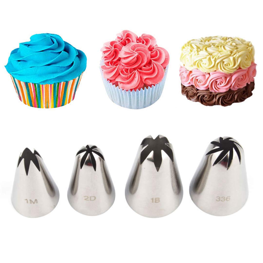 Piping Nozzles Pastry Decorating Tips Stainless Steel Cupcake Decorations