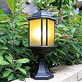 Outdoor lampe post licht fixe außen pol laterne outdoor post light ip65 wasserdichte einzelne kopf...
