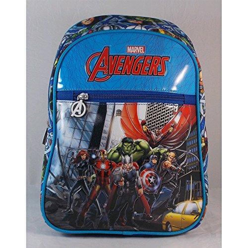 Zaino Avengers Marvel scuola borsa asilo azzurro 29X22X12