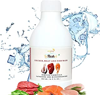 Omsma LaFleshol Chicken Meat and Fish Wash. Certified Organic solution. Removes Chemicals, Pathogens and Microorganisms. 1...