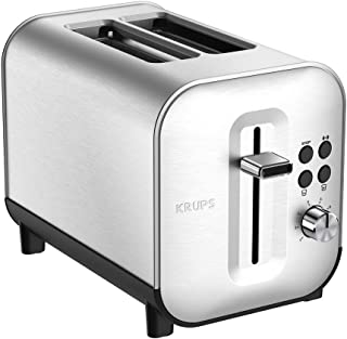 Krups Excellence Grille-Pain 2 fentes Inox Thermostat 8 Positions Toaster KH682D10