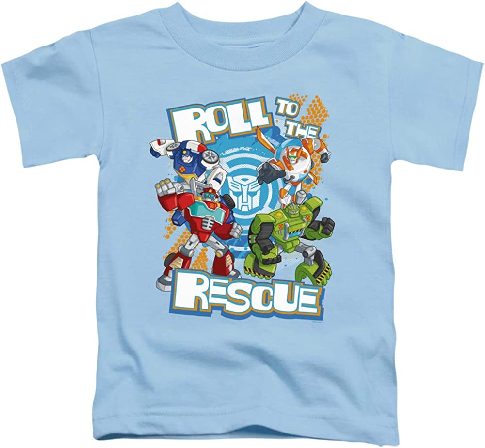 Transformers Roll to The Rescue Unisex Toddler T Shirt for Boys and Girls