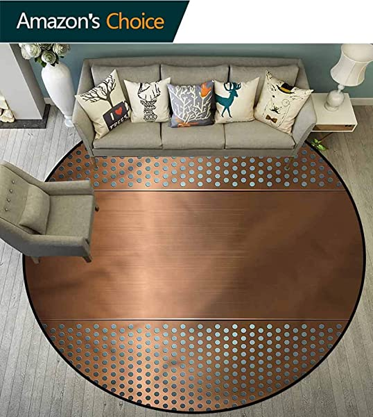 RUGSMAT 工业圆区地毯超舒适加厚带孔网格地毯进门垫卧室客厅阳台厨房防滑垫直径 59