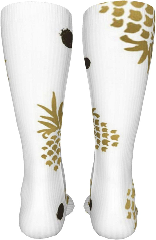 Pineapple Women Premium High Socks, Stocking High Leg Warmer Sockings Crew Sock For Daily And Work
