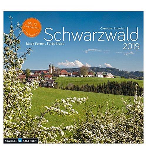 Schwarzwald 2019: Postkarten-Tischkalender