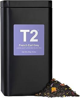 T2 Tea - French Earl Grey Black Tea, Loose Leaf Black tea in Tea Caddy, 8.8oz (250g)