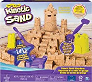FEELS LIKE WET BEACH SAND: Kinetic Sand Beach Sand feels like wet beach sand that's actually dry! It magically flows through your hands without sticking. It's easy to shape and mould and cleans up easily! Like all Kinetic Sand products, Kinetic Beach...