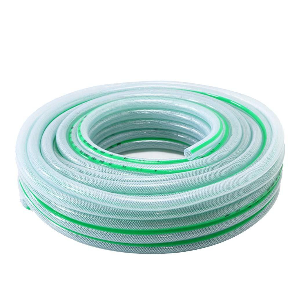HAIZHEN - PVC Manguera Transparente-50m Reforzado Tejida Jardín del Tubo de Agua -Explosion a Prueba de Anti-congelación de tuberías de riego de Seguridad (Size : 19mm): Amazon.es: Hogar