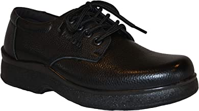 Shoes For Kitchen Men's Professional Nonslip Comfort Work Black Leather Shoe, Water and Oil Resistant