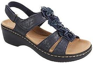 UULIKE Femmes Sandales Wedge Sandal,Bout Ouvert Compensées Confort Poisson Bouche Pantoufles,Été Mode Loisirs Plateforme S...