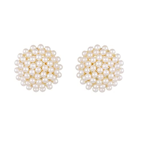 687d9cbeda6 Pearl Studs  Buy Pearl Studs Online at Best Prices in India - Amazon.in
