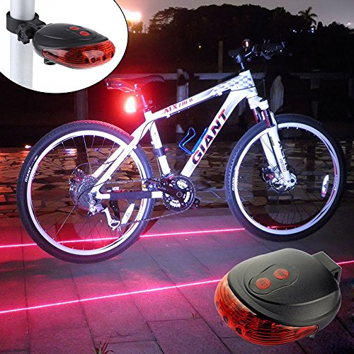 Ultra Bright Bicycle Tail Light Laser...