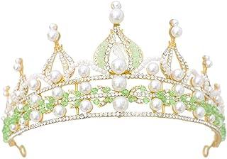 YNYA Tiare Corona Nuziale Colorful Baroque Alloy Crown Wedding Jewelry Accessori per Capelli Stage Accessori per Abiti da ...