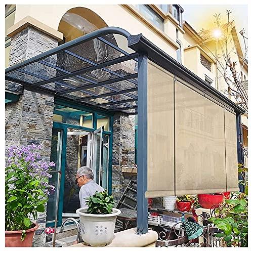 XJJUN Außenrollo, Atmungsaktiver Sonnenschutz, 90% UV-Beständigkeit, Reißfestigkeit Sichtschutz, Für Gartenterrassen-Schwimmbad (Color : Beige, Size : 1.5x3m)