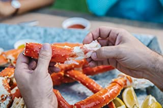 Alaskan King Crab: Giant Red King Crab Legs (10 LBS) - Overnight Shipping Monday-Thursday
