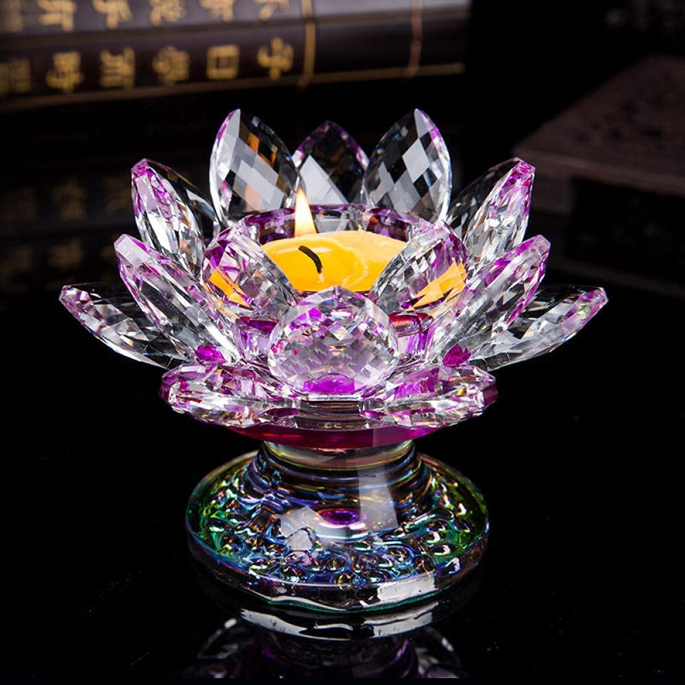 Tea Light Candle Holders for 2021 Crystal Beauty products Buddha Lotus Holder