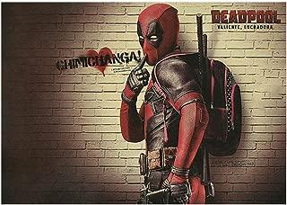 cosplaystudio Gro/ßes Deadpool Rollbild//Kakemono Poster aus Stoff 100x40cm Wade Wilson Motiv
