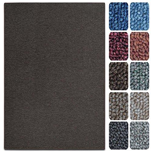 Tappetini per Scale Interne - Copri - Gradini Antiscivolo, Combinabili con Tappeti e Passatoie in Vari Colori e Misure - Rettangolari - Set da 15-23.5 x 65 cm - Marrone Scuro