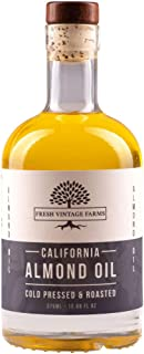 Fresh Vintage Farms, Almond Oil, Cold Press & Roasted, California Grown, Great for Cooking, Baking, Grilling, Dipping, & S...
