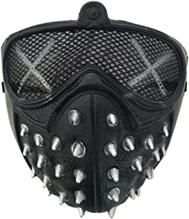 Halloween Punk Devil Cosplay Anime Stage Mask Ghost Steps Street Masquerade Death Masks Watch Dogs Rivet Party Face Masks Kids Boy Must Haves Friendship Gifts My Favourite Superhero Party Favors