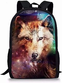 Animal Wolf Print Kids School Bag Back to School Backpack Children Boys Girls Bookbag