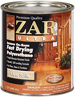 ZAR 32912 Zar Ultra Polyurethane Clear Interior Wood Finish, Satin - Quart