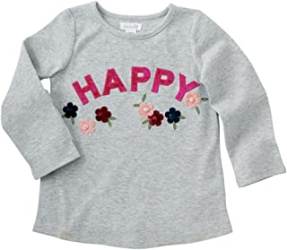 Mud Pie Baby Girl Floral Embroidered Tee T-Shirt