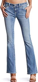 Mid Rise Boot Cut Jean in Light Blue