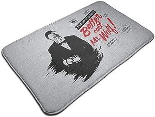 HUTTGIGH Pulp Fiction Better Call Saul Winston Wolf Mix - Alfombrilla antideslizante para puerta de entrada, alfombra de b...