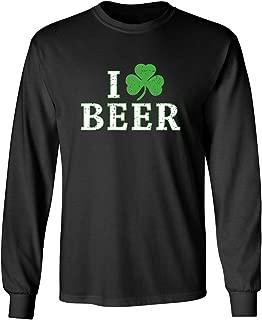 I Clover Beer St. Patrick's Day Saint Irish Pats Sarcastic Funny T Shirt