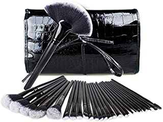 Makeup Brushes Set, Professional Face Eyeliner Blush Contour Foundation Cosmetic Brush Makeup Brush Tools with Travel Pouch (32 PCS)