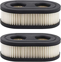 Hilom (Pack of 2 593260 798452 Oval Air Filter Cartridge for Briggs & Stratton 550E-550EX Troy-bilt TB110 TB115 TB200 TB230 TB330 TB370 MTD Yard Machines Murray Craftsman Walk-Behind Lawn Mowers