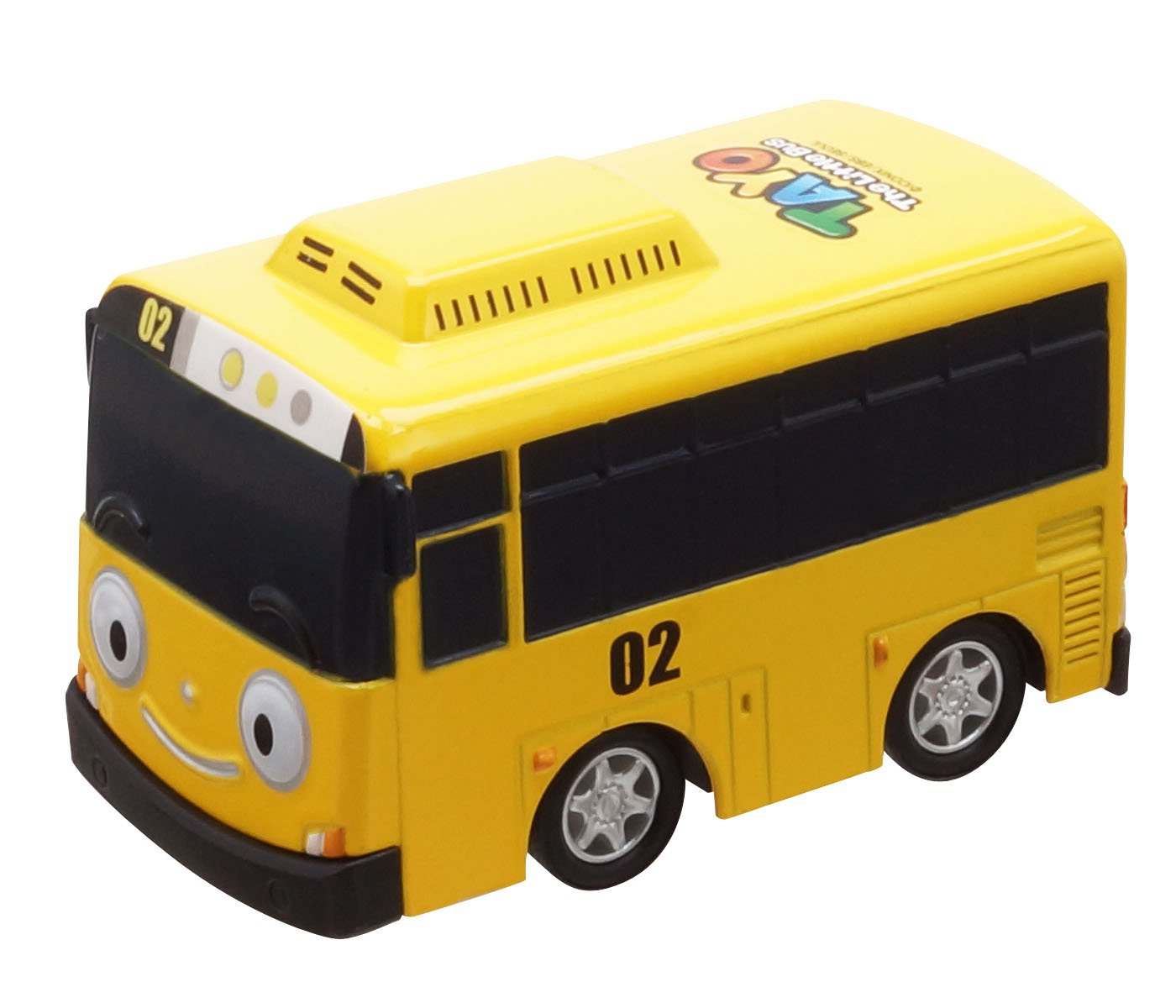 Tayo the Little Bus, 4 Metal Vehicles Set, Pull Back Mini Cars