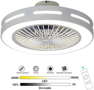 Ventilador De Techo 80W LED Con Control Remoto De Iluminación Lámpara De Techo De Ventilador Silencioso Fan 3 Velocidades De Viento, Dormitorio Regulable Luz Para Sala De Estar Para Niños (B)