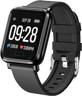 Tipmant Reloj Inteligente Mujer Hombre Smartwatch Pulsera de Actividad Inteligente Impermeable IP68 Pulsómetros Podómetro ...