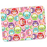 Extra Thick Rubber Mouse Pad/Mat - 9.6 x 7.5 x 0.2 inches - Big Eye Kawaii Owls