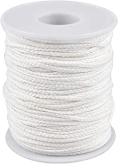Excefore 2 Roll 61m 24Ply Braided Cotton Candle Wicks / 61 Meters Candle Wick Spool Candle Wick Sustainer Tabs Double-Side...