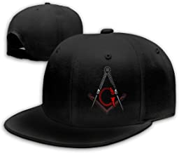 Freemason Square and Compass Red Unisex Snapback Flat Bill Baseball Cap