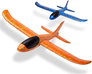 "AK ANOLIHK Foam Airplane Toy - 17.5"" Large Throwing Foam Plane, Dual Flight Mode, Aeroplane Gliders, Flying Aircraft, Gift..."