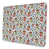Anime Keyboard Pad Süße kleine Mädchen mit Obst Waffel Hüte Kekse Donuts und Cupcakes Leckeres Gebäck Inspirierende Maus Pad für Frauen Multicolor