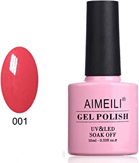 AIMEILI Soak Off UV LED Gel Nail Polish - Tropix Tropical Punch (001) 10ml