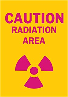 Brady 25276 Plastic Radiation & Laser Sign, 10