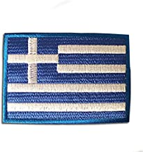ギリシャ 国旗 ( M ) アイロン ワッペン