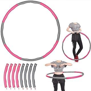 Hula Hoop Folding Fitness Padded Circle Midje Workout Gym Träningsfitness 1 kg för ungdomar vuxna damer GYM-träning