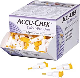 Accu-Chek Safe-T Pro Uno 200 Lancets (Single Use Disposal Most Hygenic Lancets)