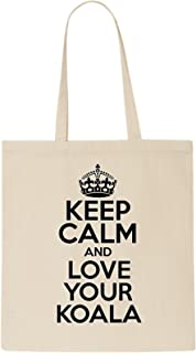DELTA NOIRE Keep Calm And Love Your Koala Tote Bag