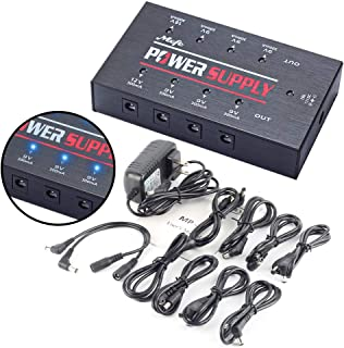 Pedals Power Supply, Mefe MP-2 Guitar Effect High Current DC 8 Truly Isolated Output for 9V/12V/18V Effect Pedals