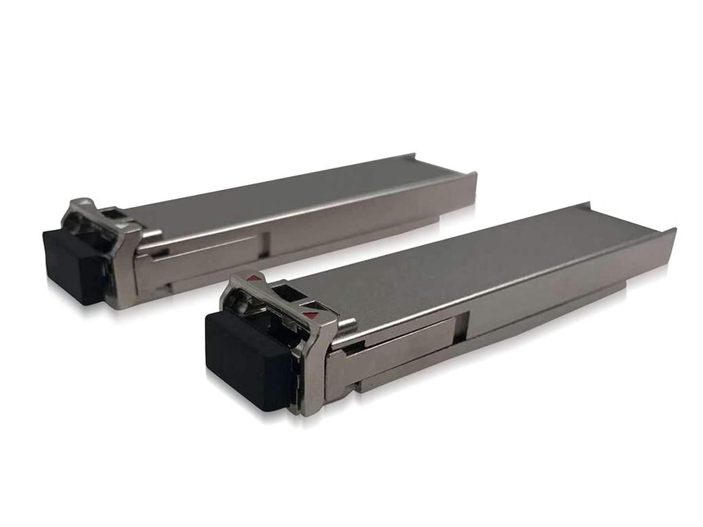 導体シダ吸収剤LODFIBER EX-XFP-10GE-BX23-20/EX-XFP-10GE-BX32-20 Juniper Networks対応互換 10G 1270/1330nm Pair of BIDI 20km XFP トランシーバ モジュール